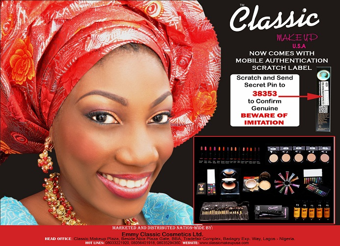 Classic Makeup USA fights Imitation with Mobile Authentication Scratch Label