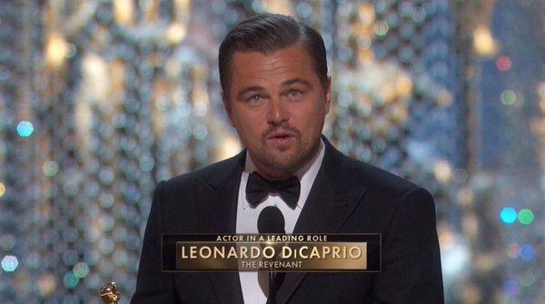 Leonardo Di Caprio Finally Wins An Oscar award +2016 OSCARS Full Winners' List