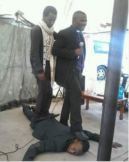 See What a Pastor Did to His Church Member During Service That Got People Talking (Photo)
