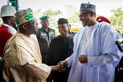 Buhari's speech at the 8th Bola Tinubu colloquium in Abuja caught Nigerians attention