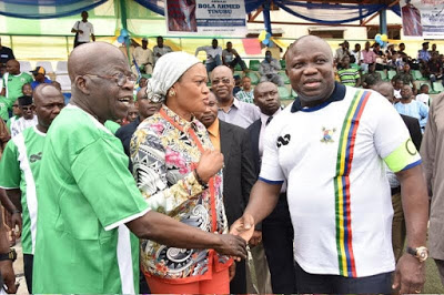 Photos from a novelty match organized to mark Tinubu's 64th birthday