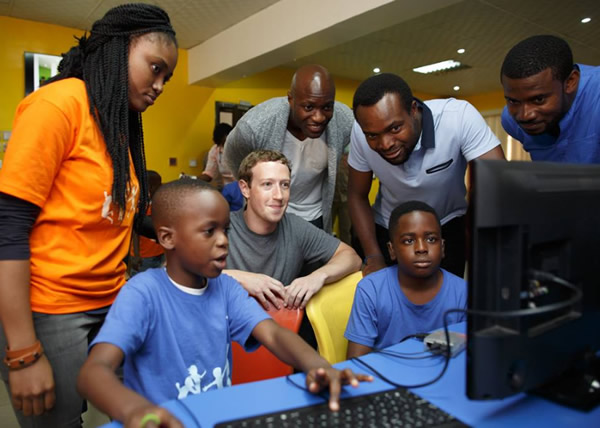 Facebook founder, Mark Zuckerberg arrived Nigeria unannounced