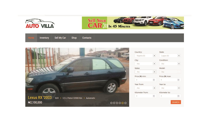 A Car dealer Automotive website like cheki for sale – autovilla.com.ng
